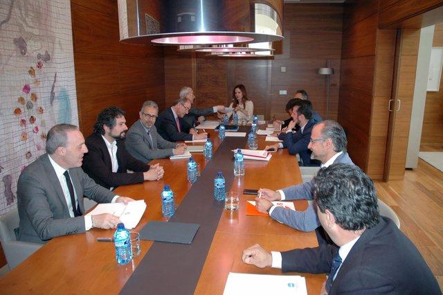 Reunión del Consejo de Cuentas en las Cortes.