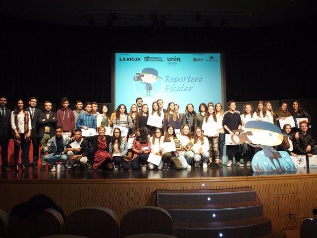 Entrega de premios de reportero escolar