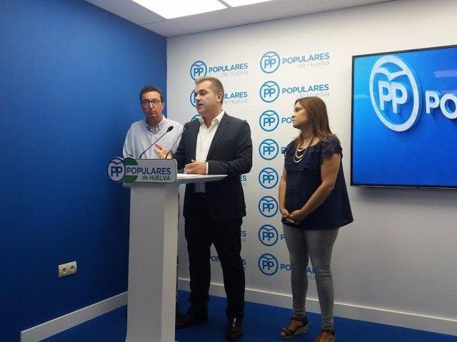 El portavoz del PP en Bollullos Par del Condado, Adrián Moreno.