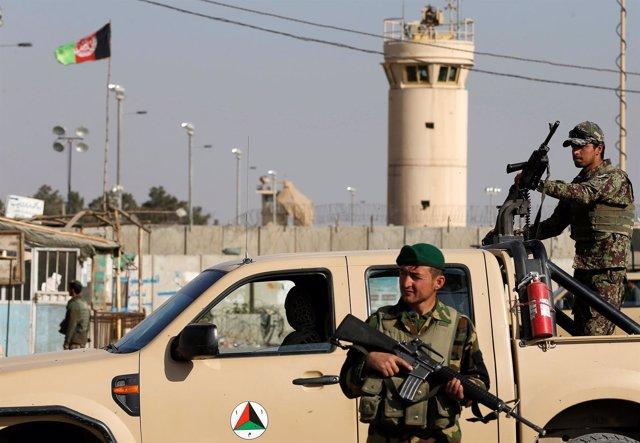 Soldados del Ejército afgano