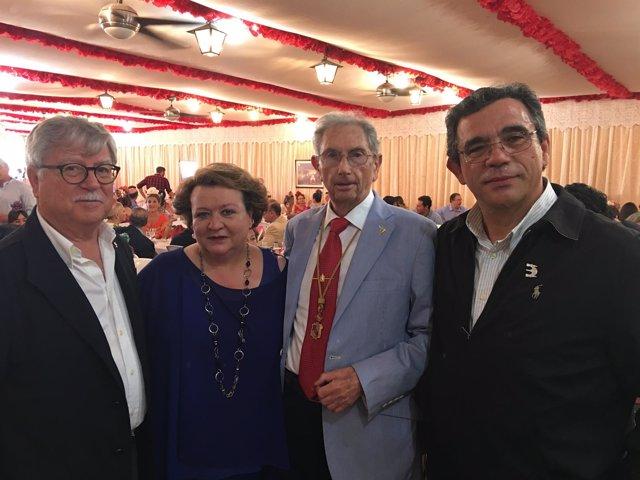Homenaje en Sevilla a Manuel Castilla, presidente de la Casa de Jaén