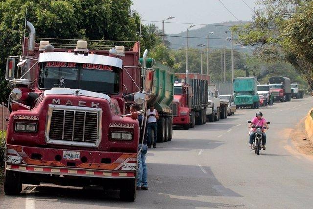 Camión frontera venezuela colombia