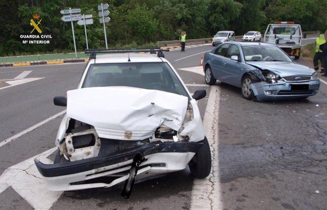 Imagen de uno de los accidentes