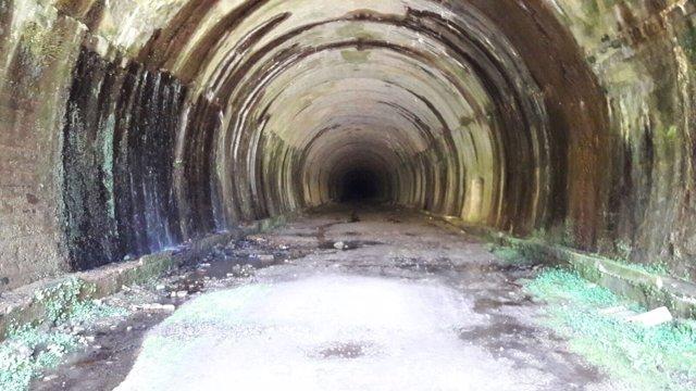 El túnel de La Engaña, entrada por la comunidad de Cantabria