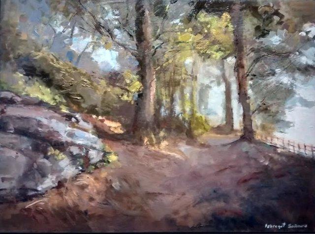 Pintura 'El Bosque' de Ángeles Fabregat Santamaría