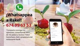 La concursante valenciana de Top Chef invita a los comensales a mandar opiniones y propuestas por WhatsApp