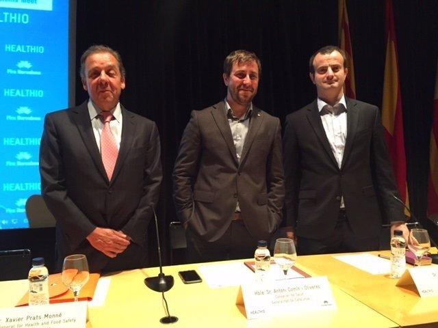 Xavier Prats,Toni Comín y Jordi Serrano