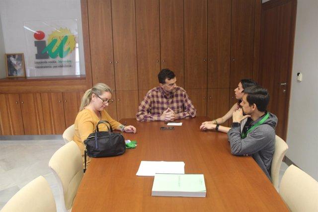 Antonio Maílo, este miércoles durante la reunión