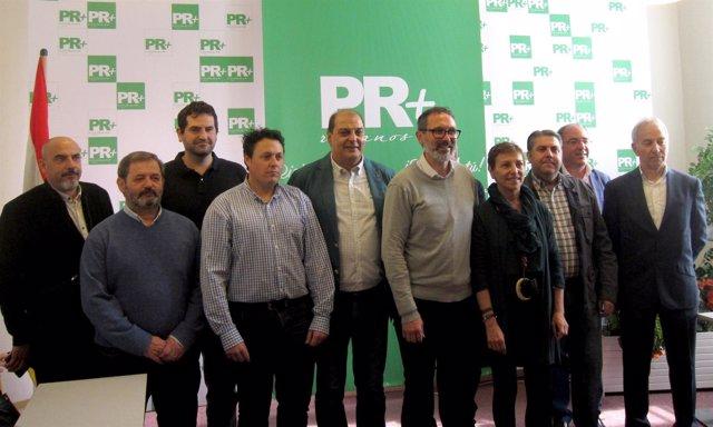 Antoñanzas presenta su candidatura a presidir el PR+