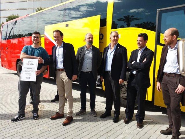 Inauguración del servicio Aerotib