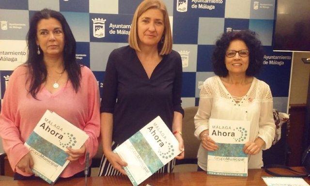 Las tres ediles de Málaga Ahora