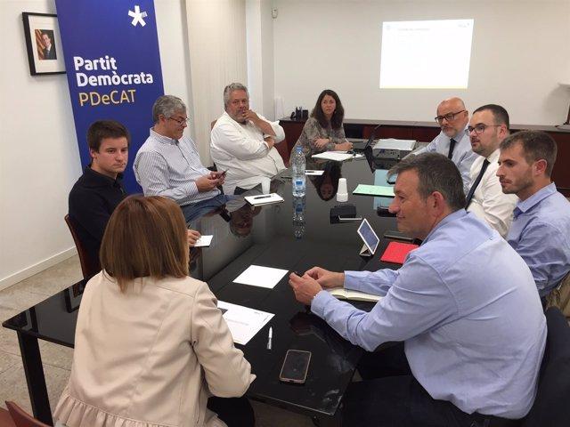 Comité de campaña del PDeCAT por el 'sí' en el referéndum