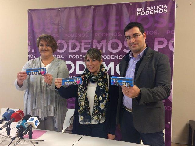 Rueda de Prensa de Podemos Galicia sobre el 'Tramabús'