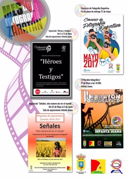 Cartel del mes de la fotografía en Zaratán (Valladolid)