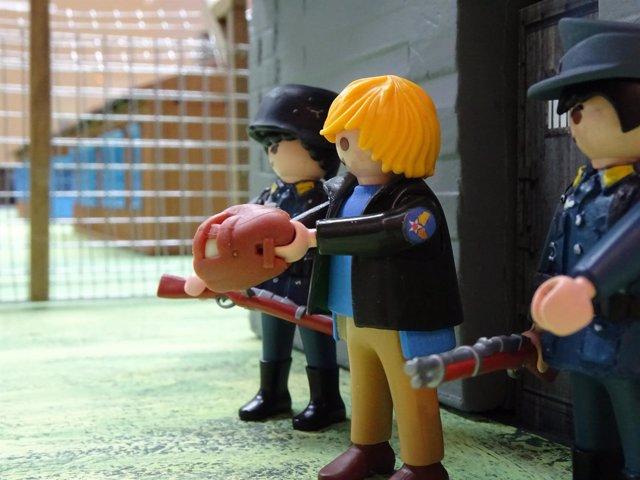 Recreación de la película La Gran Evasión con figuras de Playmobil