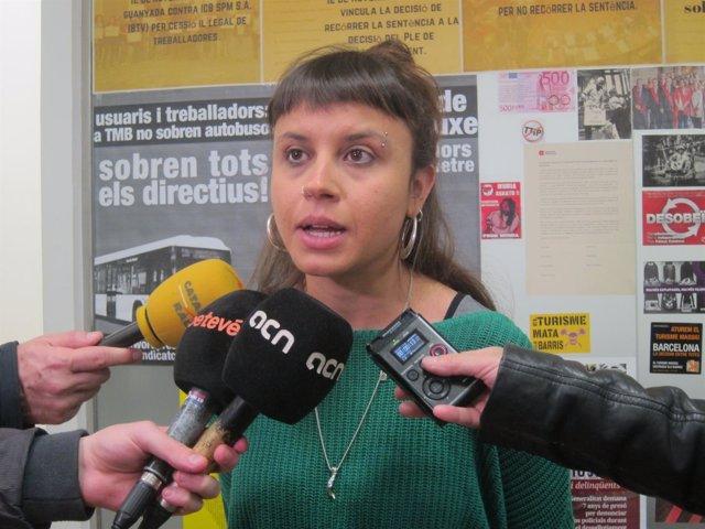 La Concejal De La CUP Maria Rovira