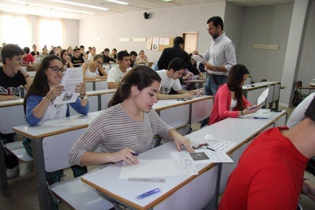 Alumnos cordobeses en las pruebas de Selectividad de este año
