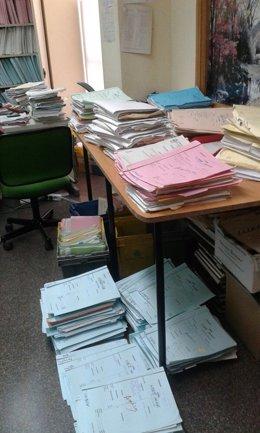 Expedientes judiciales almacenados