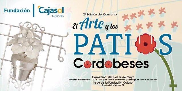 Cartel de la muestra abierta en la Fundación Cajasol