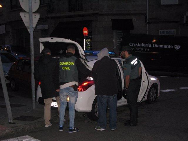 Detenido por robar en coches en la provincia de Pontevedra.