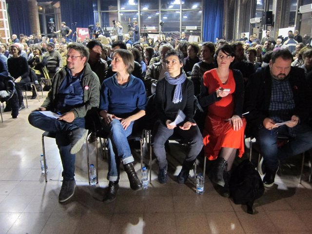 Xavier Domènech, Marta Sibina, Lucía Martín, Mar Garcia, Joan Mena (EnComúPodem)