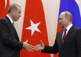 Putin y Erdogan discuten la creación de zonas seguras para garantizar la tregua en Siria