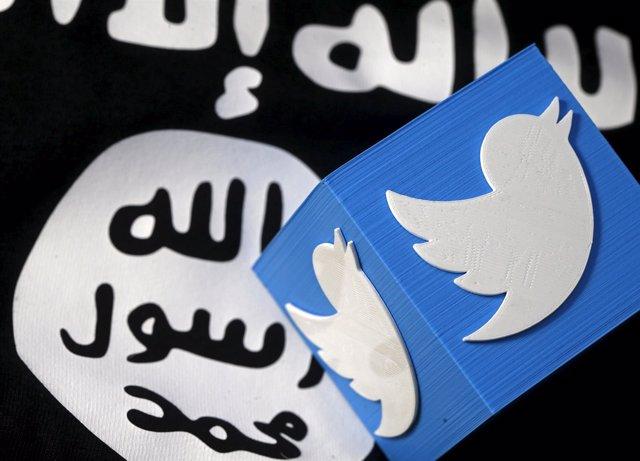 Logo de Estado Islámico y de Twitter