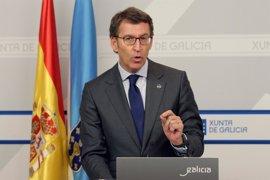 """Feijóo adelanta que los datos del paro de este jueves """"van a ser buenos"""" para Galicia"""
