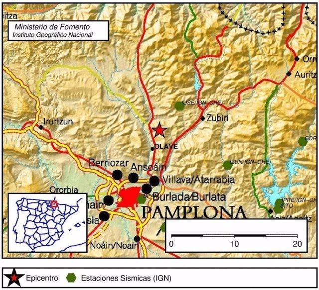 Terremoto con epicentro en Olave (Navarra).