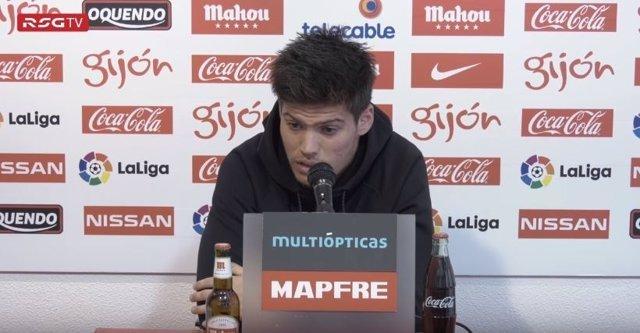 Jorge Meré, jugador del Sporting