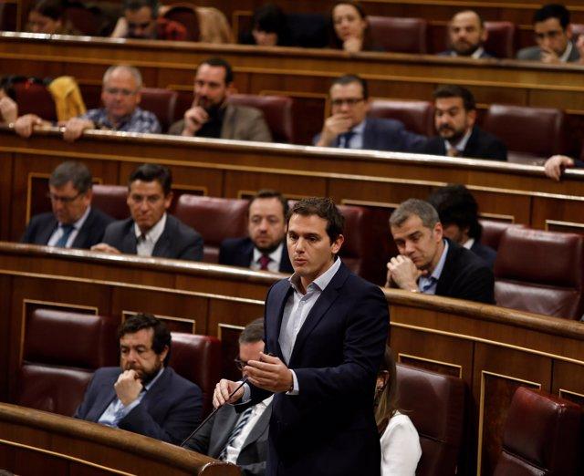 Albert Rivera y diputados de Ciudadanos