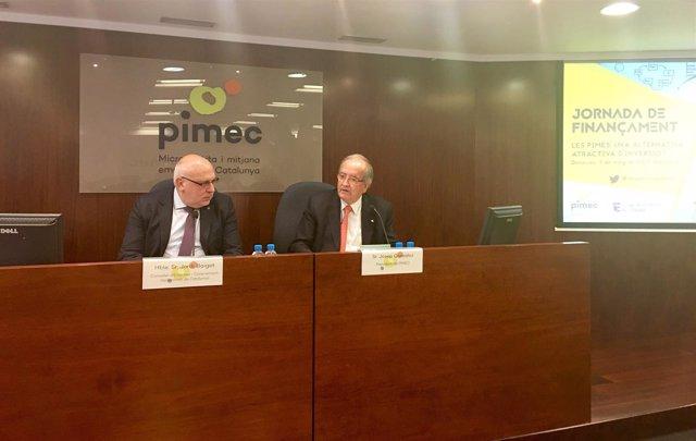 Jordi Baiget y Josep González, durante la jornada