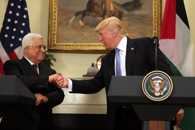 Mahmud Abbas y Donald Trump