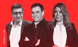 Susana Díaz quiere ganar la primera batalla a Pedro Sánchez superando sus 40.000 avales de 2014