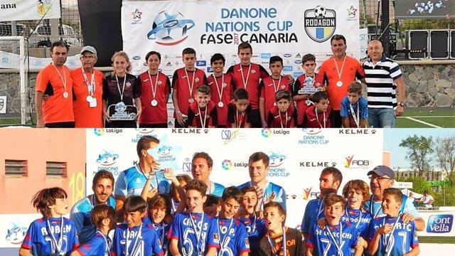 Las Majoreras y CD Móstoles en la Danone Nations Cup