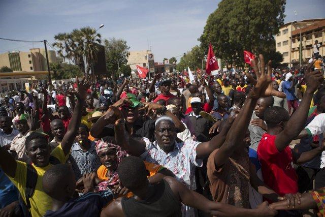 Marcha contra el presidente de Burkina Faso