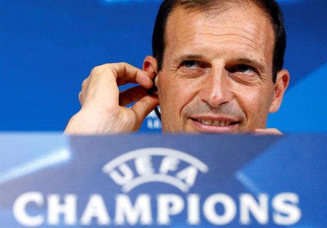 El entrenador de la Juventus, Massimiliano Allegri
