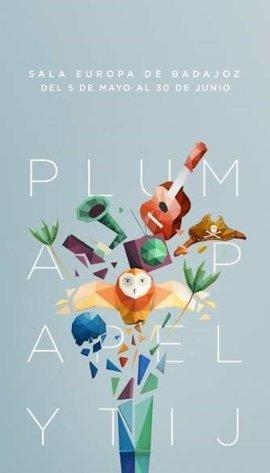 La exposición 'Pluma, papel y tijeras' muestra en la Sala Europa de Badajoz la obra de cinco ilustradores extremeños
