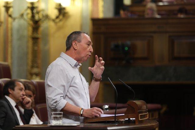 Joan Baldoví en el debate sobre Presupuestos en el Congreso