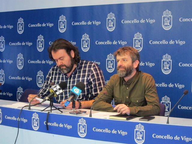 Rueda de prensa del Grupo Municipal de Marea de Vigo.