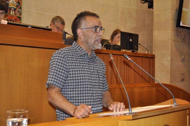 El diputado de Podemos, Andoni Corrales.