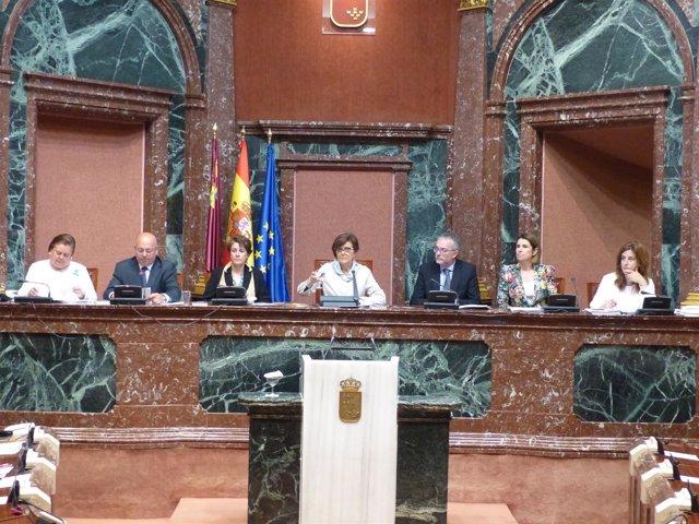 Imagen de la Mesa de la Asamblea Regional