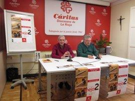 Cáritas La Rioja anima a marcar la doble 'X' del IRPF, de la que ha recibido en los últimos 5 años medio millón €