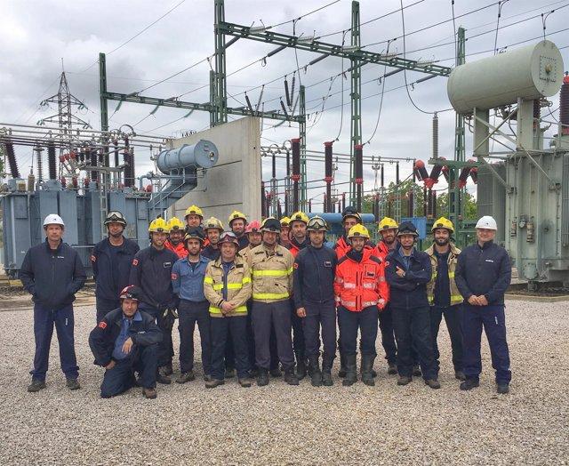 Formación de bomberos sobre riesgos eléctricos