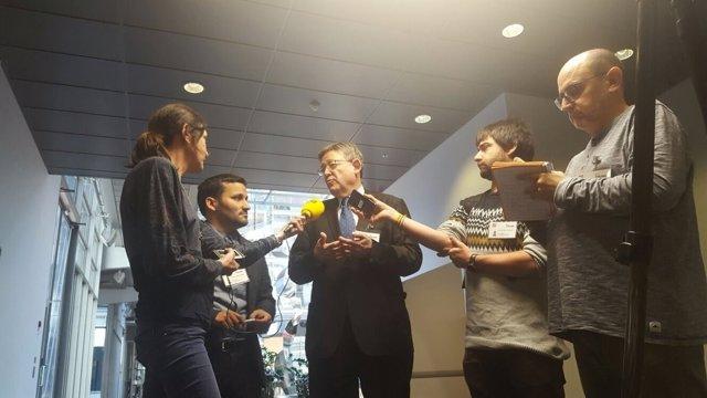 El 'president' atendiendo a los periodistas en Helsinki
