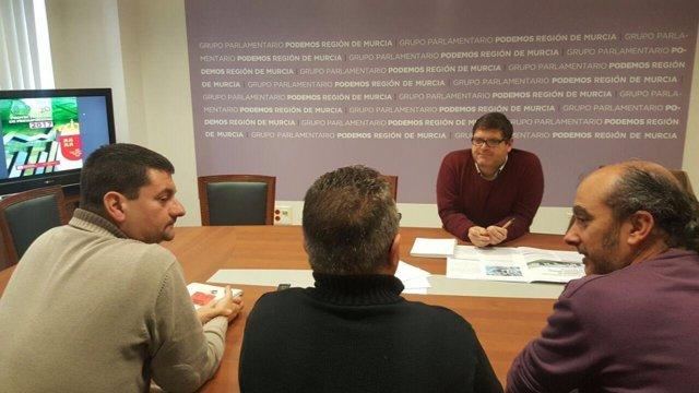 El diputado regional de Podemos, Andrés Pedreño