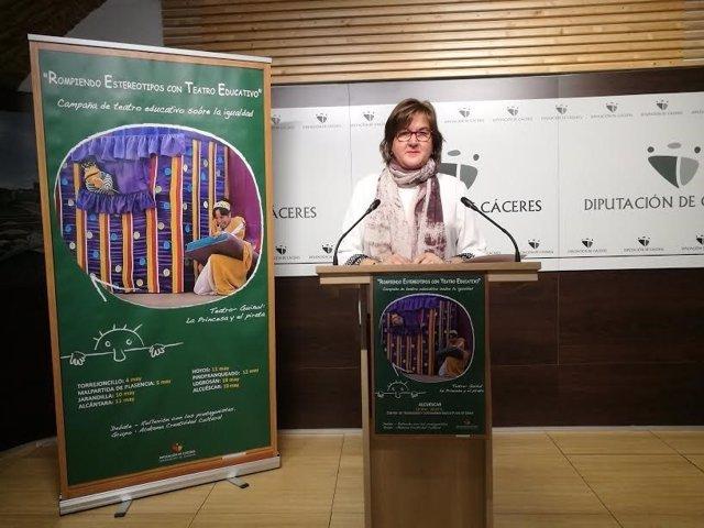 Marifé Plata, diputada de Igualdad de la Diputación de Cáceres