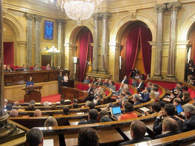 Inés Arrimadas (C's) en el pleno del Parlament