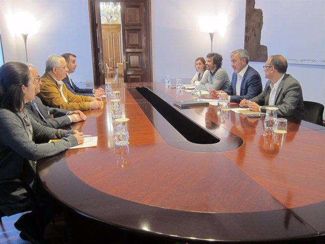 Reunión entre el Gobierno de Barcelona y el Gremio de Restauración