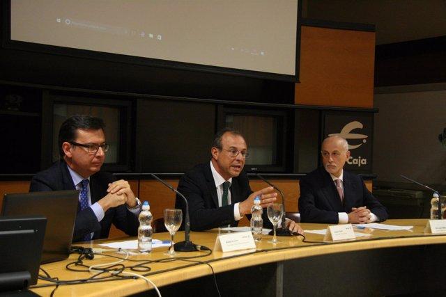 Román Escolano, Antonio Lacoma y Pier Luigi Gilibert, presentan Iniciativa Pyme.